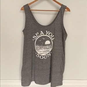A Pea in the Pod Ocean Graphic Tank Top